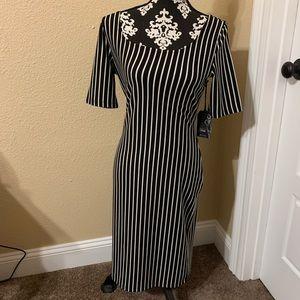 Black and White Curvy Dress